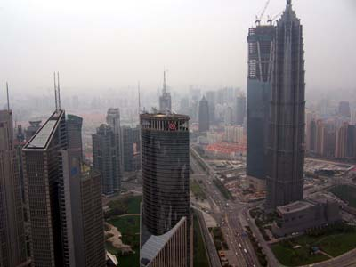 Shanghai, Blick vom Tv-Tower- Oriental Pearl Tower